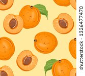 seamless pattern with apricots... | Shutterstock .eps vector #1326477470