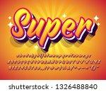 """super"" amazing text effect ... | Shutterstock .eps vector #1326488840"