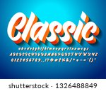 classic 3d bold script font ...   Shutterstock .eps vector #1326488849