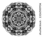 black and white floral ethnic...   Shutterstock .eps vector #1326500936
