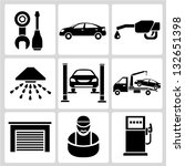 automobile  car service icon set | Shutterstock .eps vector #132651398