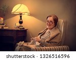 portrait of a grandmother...   Shutterstock . vector #1326516596