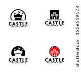 castle logo design | Shutterstock .eps vector #1326519173