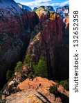 angel landing trail in zion... | Shutterstock . vector #132652358