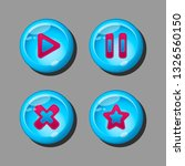 set of buttons for the...