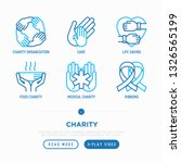 charity thin line icons set ... | Shutterstock .eps vector #1326565199