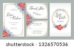 wedding invitation card design... | Shutterstock .eps vector #1326570536