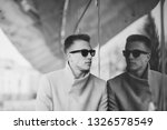 stylish young man in sunglasses ... | Shutterstock . vector #1326578549