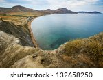 a landscape on sea. the yellow... | Shutterstock . vector #132658250