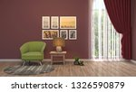 interior with chair. 3d... | Shutterstock . vector #1326590879