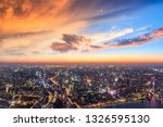 shanghai city skyline and... | Shutterstock . vector #1326595130