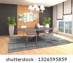 interior dining area. 3d... | Shutterstock . vector #1326595859