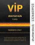 vip invitation card with orange ... | Shutterstock .eps vector #1326603923