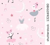 childish seamless pattern with... | Shutterstock .eps vector #1326605480