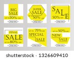 sale banners  flyers with... | Shutterstock .eps vector #1326609410