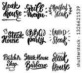 set of steak house  grill menu ...   Shutterstock .eps vector #1326621539