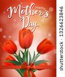 beautiful bouquet of  tulips... | Shutterstock .eps vector #1326623846
