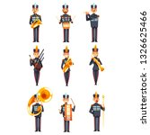 soldiers playing musical...   Shutterstock .eps vector #1326625466
