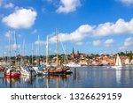 marina of flensburg  germany  | Shutterstock . vector #1326629159