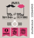 wedding invitation card... | Shutterstock .eps vector #132664043