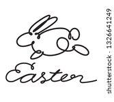 doodle rabbit  vector   Shutterstock .eps vector #1326641249