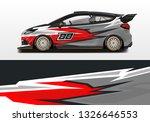 car wrap decal design vector.... | Shutterstock .eps vector #1326646553