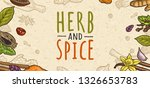 poster with pepper  cinnamon ... | Shutterstock .eps vector #1326653783