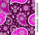 paisley seamless pattern.... | Shutterstock .eps vector #1326655349