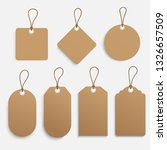 vector set of tags. | Shutterstock .eps vector #1326657509