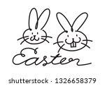 doodle rabbit  vector   Shutterstock .eps vector #1326658379