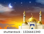 realistic muslim mosque on... | Shutterstock .eps vector #1326661340