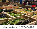 crates of vegetables out for... | Shutterstock . vector #1326684983
