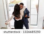 woman greeting and hugging... | Shutterstock . vector #1326685250