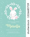 baby shower card template with... | Shutterstock .eps vector #1326685739