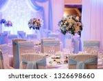 banquet hall for weddings ... | Shutterstock . vector #1326698660