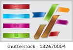 set of vector ribbons and... | Shutterstock .eps vector #132670004