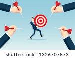hitting the target | Shutterstock .eps vector #1326707873