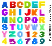 collection sponge alphabet and... | Shutterstock . vector #132670988