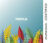 trendy summer template with... | Shutterstock .eps vector #1326739310