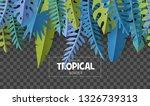 trendy summer border with... | Shutterstock .eps vector #1326739313