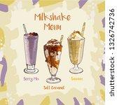 berry mix  salt caramel  banana ...   Shutterstock .eps vector #1326742736