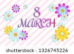 8 march  women's day  sale... | Shutterstock .eps vector #1326745226