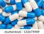 Blue And White Vitamin Capsules