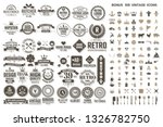 vintage retro vector logo for... | Shutterstock .eps vector #1326782750