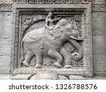 stone bas relief with elephant...   Shutterstock . vector #1326788576