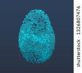 fingerprint logo. id app icon.... | Shutterstock .eps vector #1326807476