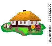ukrainian traditional house... | Shutterstock .eps vector #1326822200