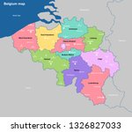 belgium political map with... | Shutterstock .eps vector #1326827033