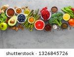 healthy food background ... | Shutterstock . vector #1326845726