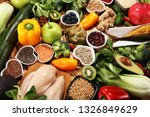 healthy food clean eating... | Shutterstock . vector #1326849629